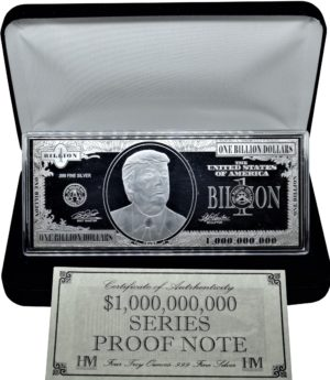 this is our trump 4oz commemorative bar